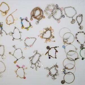 Huge Lot of Charm Bracelets, Vintage and New